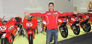 Valentino Rossi, 32, at the Ducati museum. Milagro